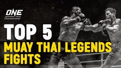 Photo of Las 5 mejores peleas de leyendas de Muay Thai en ONE FC