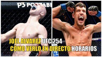 Photo of UFC 254: Joel Álvarez vs Alexander Yakovlev CÓMO VERLO EN DIRECTO,HORARIOS