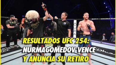 Photo of Resultados UFC 254: Nurmagomedov vence y anuncia su retiro
