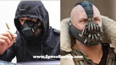 Photo of Khabib Nurmagomedov se compara con Bane-UFC Mask