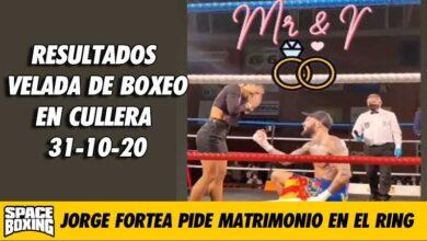 Photo of Jorge Fortea pide matrimonio a su novia tras vencer su combate en Cullera