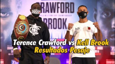 Photo of Terence Crawford vs Kell Brook -Resultados Pesaje