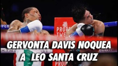 Photo of Gervonta Davis noquea a Leo Santa Cruz en el 6º . asalto