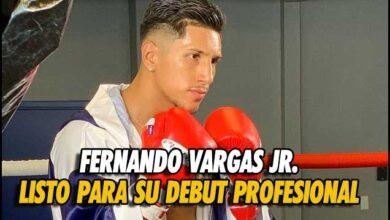 Photo of Fernando Vargas Jr., listo para su debut profesional