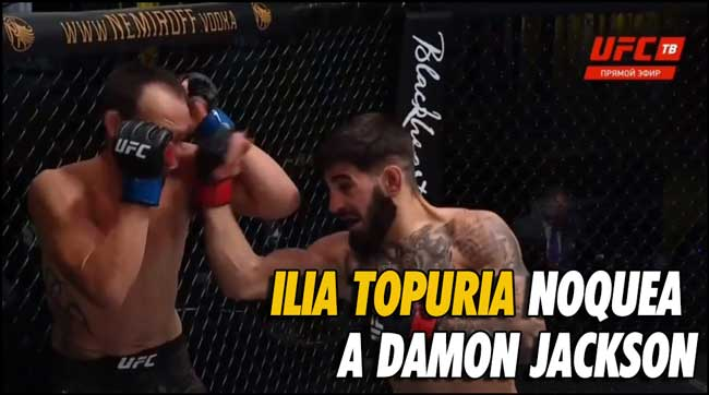 Photo of Ilia Topuria noquea a Damon Jackson en UFC Vegas 16