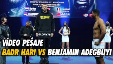 Photo of Vídeo pesaje Badr Hari vs Benjamin Adegbuyi: 8 Kg de diferencia