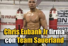 Photo of Chris Eubank Jr firma con Team Sauerland