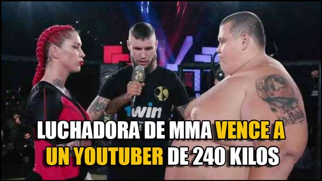 Photo of Luchadora de MMA Darina Mandzyuk venció a un Youtuber de 240 kilos