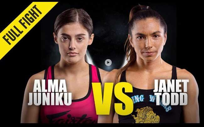 Photo of ALMA JUNIKU VS  JANET TODD- VÍDEO