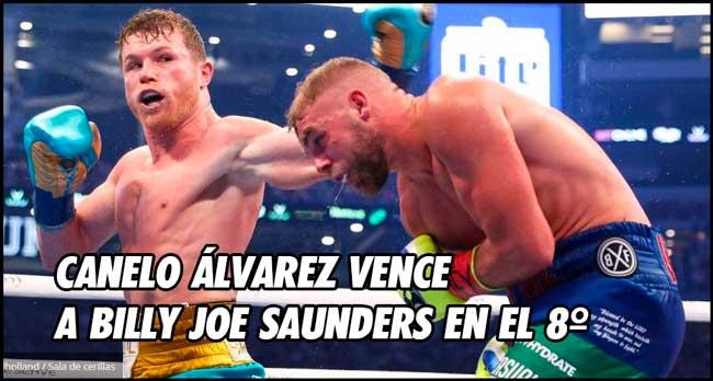 Photo of Canelo Álvarez vence a Billy Joe Saunders en el 8º