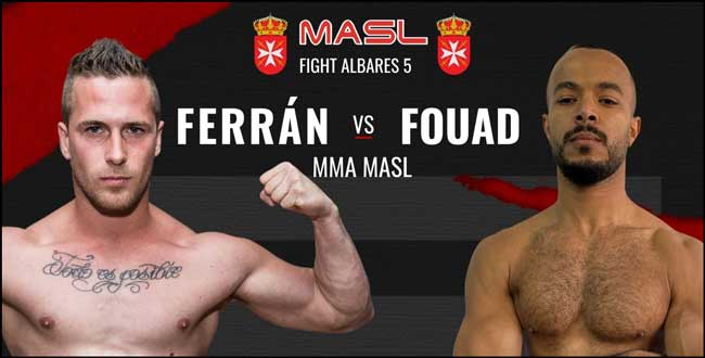 Photo of FERRAN DOMÍNGUEZ Y FOUAD TAIBI, SE ENFRENTAN EN LA BATALLA ESTELAR DE MMA MASLFIGHT ALBARES 5
