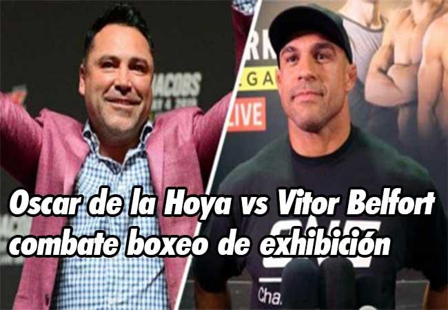 Photo of Oscar de la Hoya vs Vitor Belfort anunciado para el 11 de septiembre