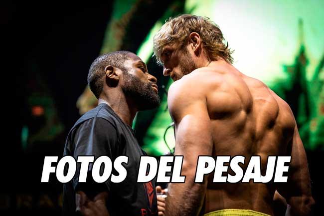 Photo of Floyd Mayweather vs Logan Paul fotos del pesaje