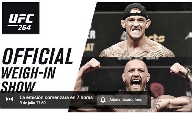 Photo of UFC 264 hora del pesaje, vídeo en directo y resultados – Poirier vs McGregor 3