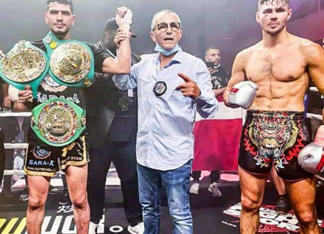 Photo of Youssef Boughanem vence a Niclas Larsen y unifica los cinturones WBC y WBC Diamond