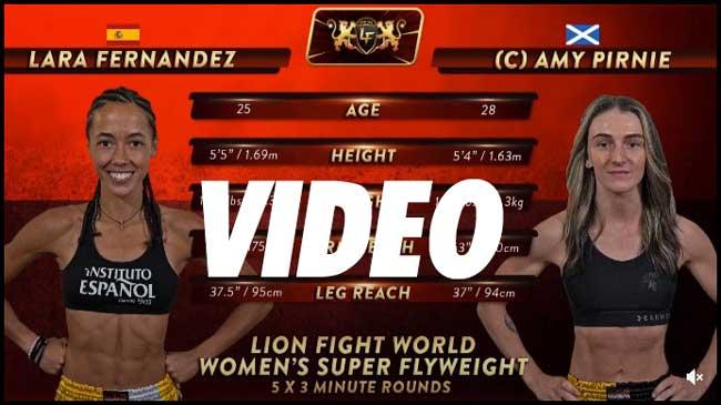 Photo of Amy Pirnie vs. Lara Fernandez – HIGHLIGHTS- Lion Fight 68